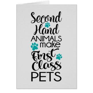 1st Class Pets Card