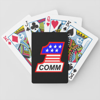 """1st Combat Comm """"1"""" logo Bicycle Playing Cards"""