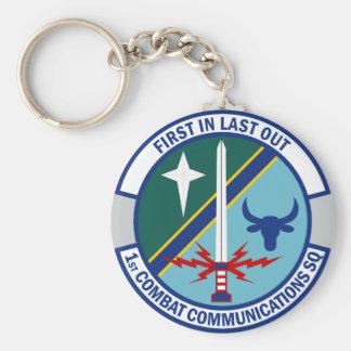 1st Combat Communications Squadron Keychain