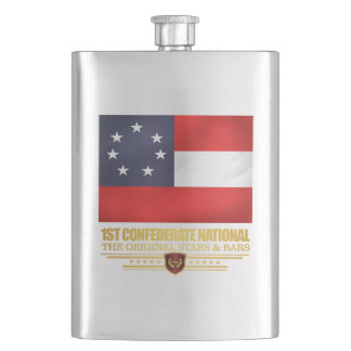 1st Confederate National Hip Flask