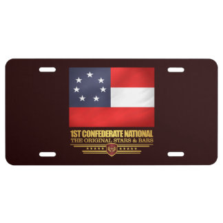 1st Confederate National License Plate