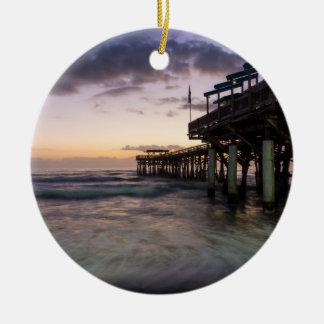 1st Dawn Cocoa Pier Ceramic Ornament