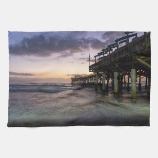 1st Dawn Cocoa Pier Hand Towel