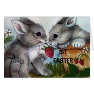 """1st EASTER BUNNIE WISHES FOR YOU!"" Card"