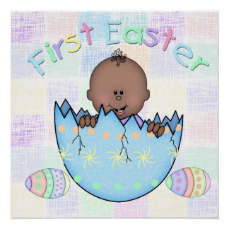 """1st Easter Ethnic Baby Boy Poster (20"""" x 20"""") Perfect Poster"""