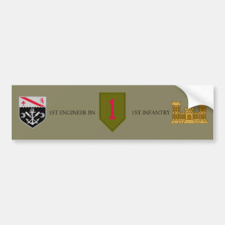 1ST ENGINEER BN 1ST INFANTRY BUMPER STICKER