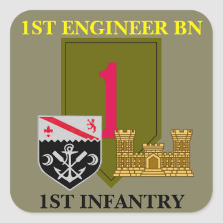 1ST ENGINEER BN 1ST INFANTRY STICKERS