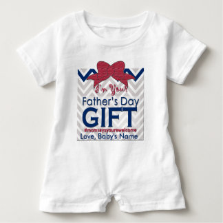 1st Father's Day Gift is Baby | Mom Says Welcome Baby Romper
