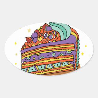 1st February - Baked Alaska Day Oval Sticker