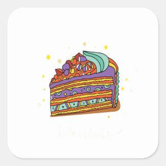 1st February - Baked Alaska Day Square Sticker