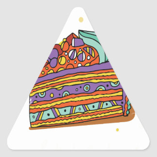 1st February - Baked Alaska Day Triangle Sticker