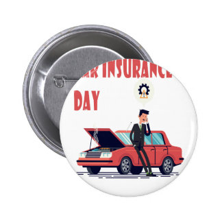1st February - Car Insurance Day 2 Inch Round Button