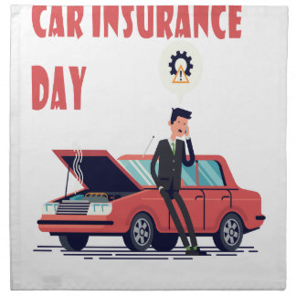 1st February - Car Insurance Day Napkin