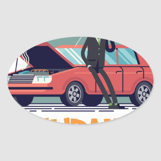 1st February - Car Insurance Day Oval Sticker