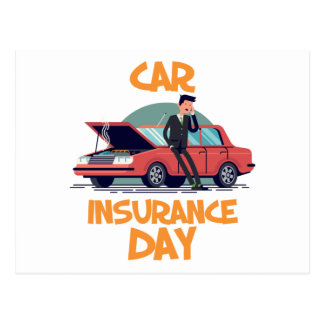 1st February - Car Insurance Day Postcard