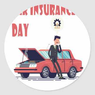 1st February - Car Insurance Day Round Sticker