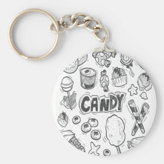 1st February - Decorating With Candy Day Basic Round Button Keychain