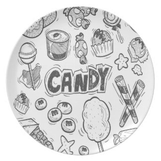 1st February - Decorating With Candy Day Party Plates