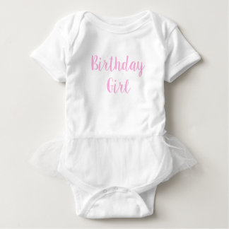 1st first birthday baby girl pink one cursive baby bodysuit