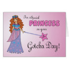 1st Gotcha Day, Adoption Anniversary Princess Card