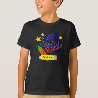 1st Grade Rocks Boys T-Shirt