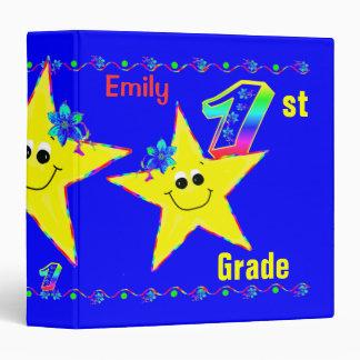 1st Grade School Binders Smiley Stars