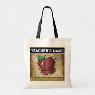 1st Grade School Teacher Rocks Vintage Styled Tote Bag