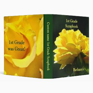 1st Grade Scrapbook binder First Grade School