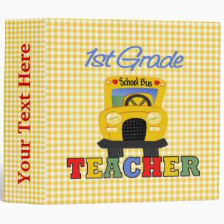 1st Grade Teacher Gift 3 Ring Binder