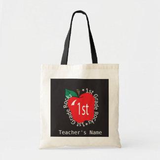 1st Grade Teachers Rock | DIY Name Tote Bag