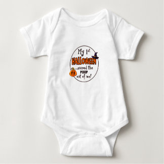 1st Halloween Scared The Poop Out Of Me Baby Bodysuit
