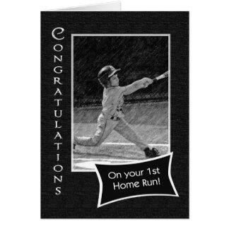 1st Home Run Congratulations Card