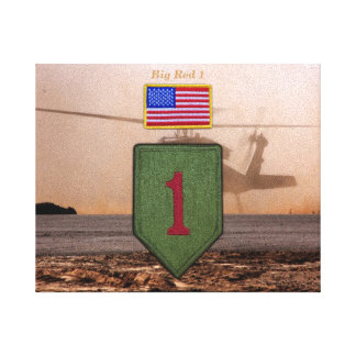 1st infantry big red 1 veterans vets patch canvas print
