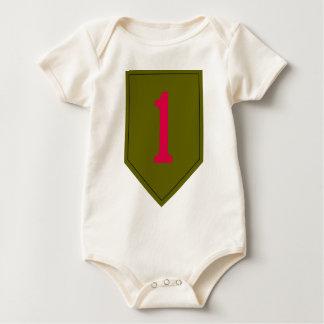 1st Infantry Division Baby Bodysuit