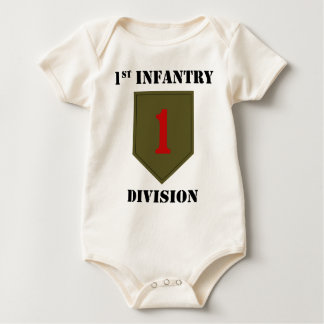1st Infantry Division With Text Baby Bodysuit