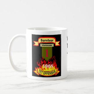 1st Infantry Survivor Vietnam Tet Offensive Mug