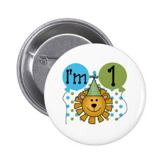 1st Lion Birthday 2 Inch Round Button