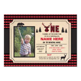 1st Lumberjack One Birthday Invite Check Invite