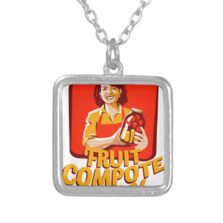 1st March - Fruit Compote Day - Appreciation Day Silver Plated Necklace