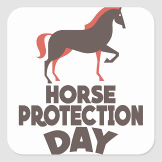 1st March - Horse Protection Day Square Sticker
