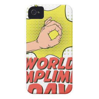 1st March - World Compliment Day iPhone 4 Case-Mate Case
