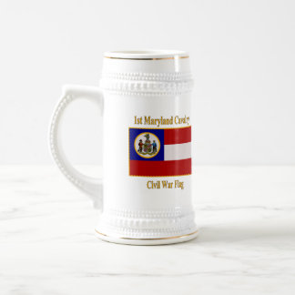 1st Maryland Cavalry Civil War Flag Beer Stein