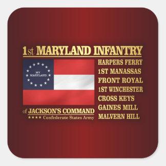 1st Maryland Infantry (BA2) Square Sticker