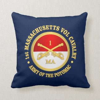 1st Massachusetts Volunteer Cavalry Throw Pillow