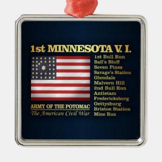 1st Minnesota Volunteer Infantry (BH) Metal Ornament