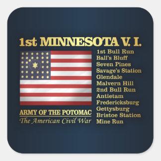 1st Minnesota Volunteer Infantry (BH) Square Sticker