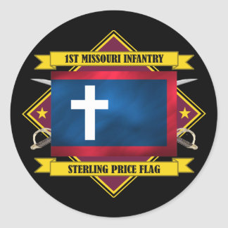 1st Missouri Infantry Classic Round Sticker