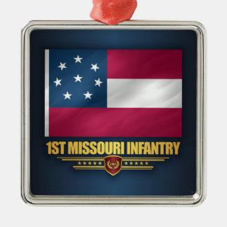 1st Missouri Infantry Metal Ornament