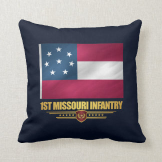 1st Missouri Infantry Throw Pillow
