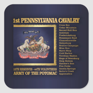 1st Pennsylvania Cavalry (BH) Square Sticker